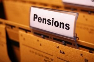 8399526 - pension pension or retirement concept with word on business office folder index