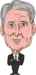 60271800 - caricature illustration of philip anthony hammond pc mp, british conservative politician and chancellor of the exchequer facing front done in cartoon style on isolated background.